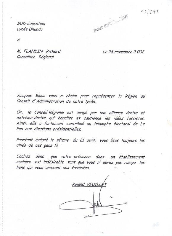 Exemple Lettre De Demission D Un Lycee